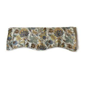 6 Fabric Lined Valances Ivory Brown Yellow Blue